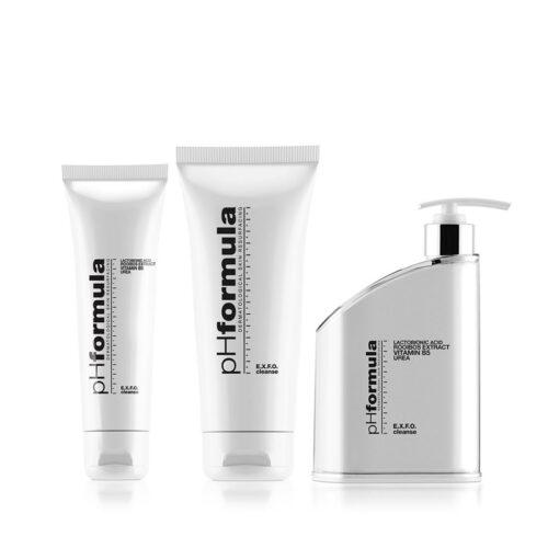 pHformula EXFO CLEAN niisutava ning kooriva toimega puhastaja näole ja silmadele