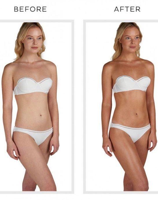 Body Blur Sunless Glow HD Skin Finish, kohene naha viimistleja ja toonija kehale ning näole enne ja pärast